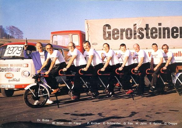 1979 Gerolsteiner Flora Brunnen Radfahrer-Team