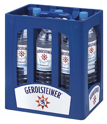 Gerolsteiner Naturell PET Mehrweg 1.5-Liter-Flasche im 6er Kasten
