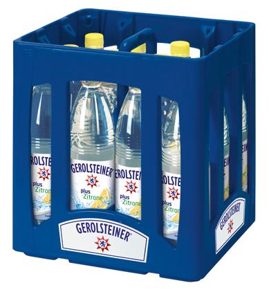 Gerolsteiner Plus Zitrone PET Mehrweg 0.75-Liter-Flasche im 12er Kasten