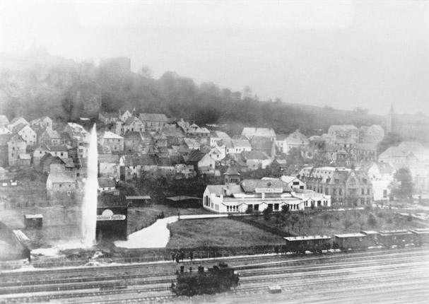 Quellausbruch im Jahr 1909