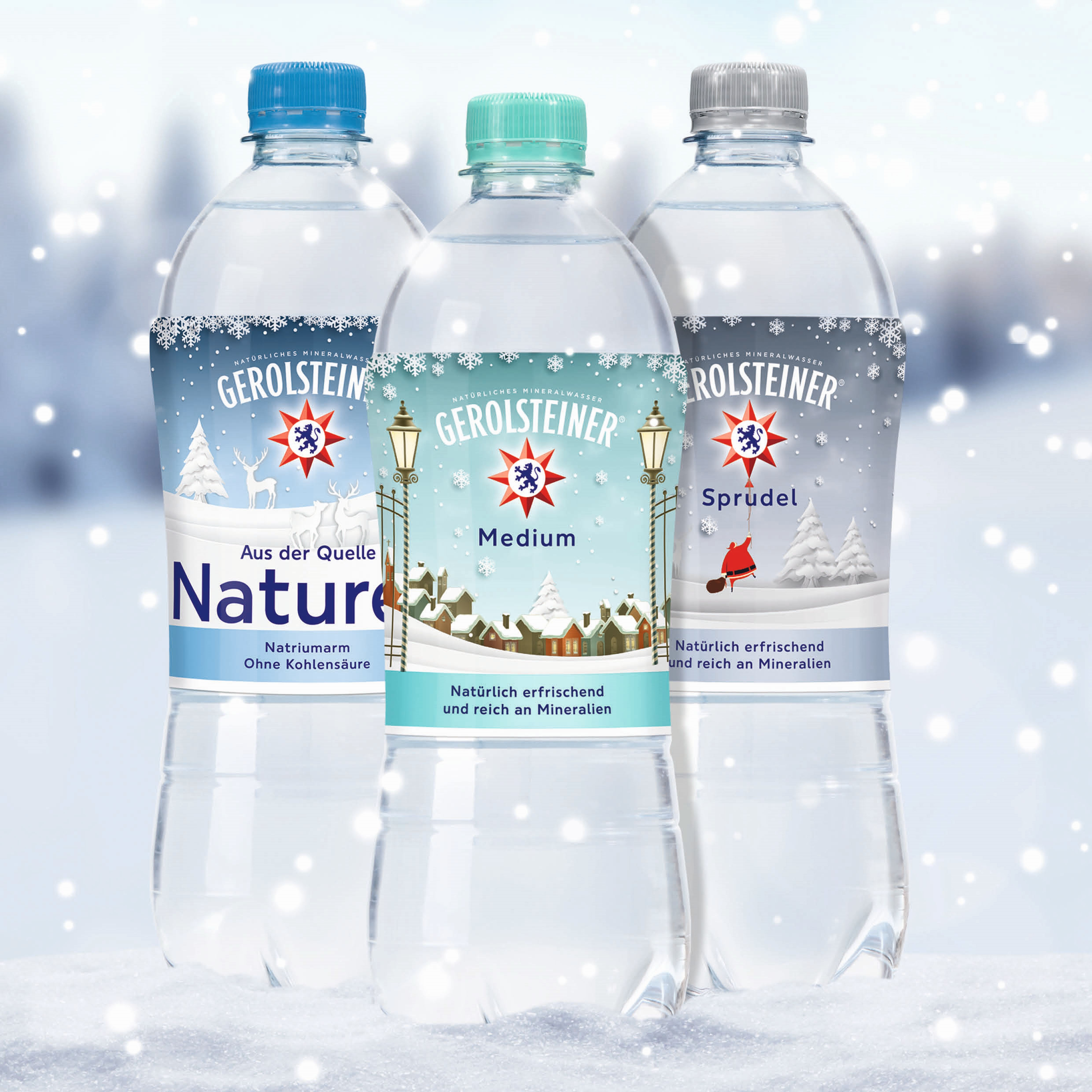Winterzauber: Gerolsteiner Mineralwasser in einer Winter-Edition