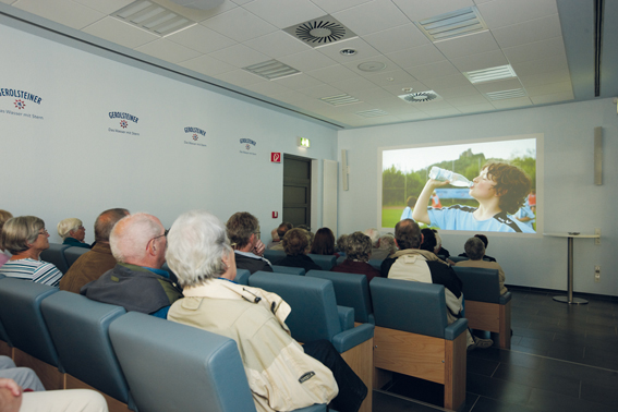 Gerolsteiner visitor center cinema
