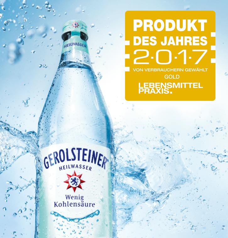 Gerolsteiner Heilwasser - Produkt des Jahres 2017