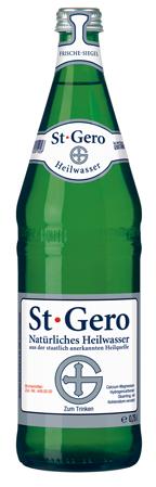 St. Gero Heilwasser Glas Flasche