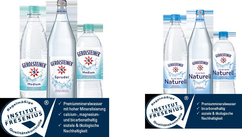Gerolsteiner als Premiummineralwasser